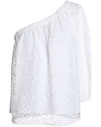 Rebecca Minkoff - Woman Lace-top White - Lyst