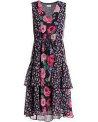 Claudie Pierlot - Tiered Printed Georgette Dress - Lyst