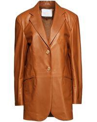 DROMe Leather Blazer - Multicolour