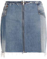 Levi's - Patchwork Distressed Denim Mini Skirt - Lyst