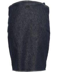 Mugler Denim Pencil Skirt Dark Denim - Blue