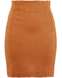 M Missoni Metallic Stretch-knit Mini Skirt - Brown