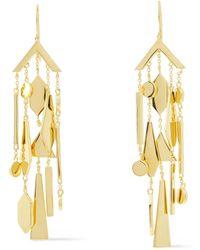 Noir Jewelry 14-karat -plated Earrings - Metallic