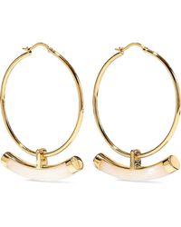 Noir Jewelry - Crescent 14-karat Gold-plated Resin Hoop Earrings - Lyst