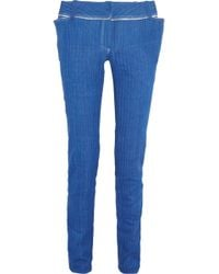 Ronald Van Der Kemp - Distressed Mid-rise Skinny Jeans - Lyst