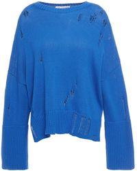 Cotton by Autumn Cashmere Distressed Cotton Jumper Royal Blue