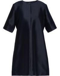 Raoul - Silk-blend Duchesse-satin Mini Dress Midnight Blue - Lyst