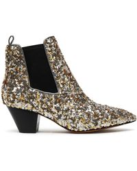 Marc Jacobs - Sequined Woven Ankle Boots - Lyst