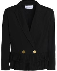 Vionnet - Double-breasted Cotton-blend Jacket - Lyst