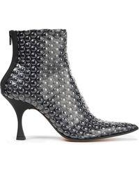 MM6 by Maison Martin Margiela Ankle Boots Aus Strukturiertem Pvc - Grau
