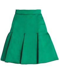 Dolce & Gabbana - Pleated Silk-satin Mini Skirt - Lyst