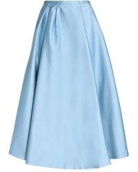 Rochas - Duchesse Satin Midi Skirt - Lyst