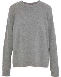4037664147 Belstaff - Woman Shilpa Wool And Cashmere-blend Sweater Gray - Lyst
