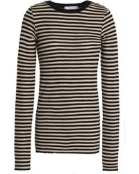Vince - Striped Knitted Pima Cotton Top - Lyst
