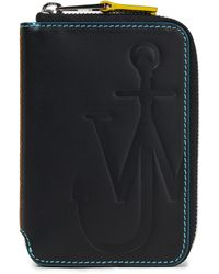 JW Anderson Embossed Leather Wallet - Black