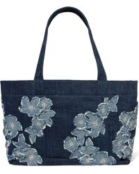 MICHAEL Michael Kors - Embroidered Denim Tote - Lyst