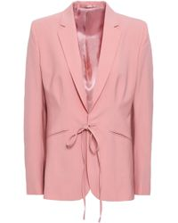 Filippa K Bow-detailed Wool-blend Blazer Antique Rose - Pink