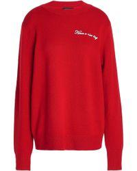 Rag & Bone - Vicky Embroidered Merino Wool-blend Sweater - Lyst