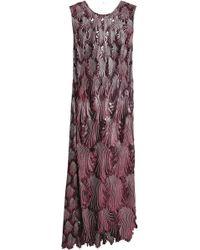 Marco De Vincenzo - Bow-detailed Guipure Lace Midi Dress - Lyst