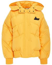 McQ Quilted Shell Down Hooded Jacket Marigold - Yellow