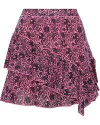 10 Crosby Derek Lam Floral Ruffle Mini Skirt - Pink