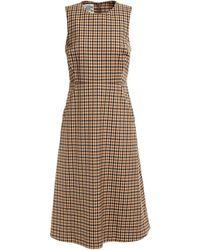Baum und Pferdgarten - Abena Gingham Twill Dress Light Brown - Lyst