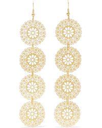 Kenneth Jay Lane - Woman Gold-tone Earrings Gold - Lyst