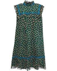 Anna Sui - Fluttering Fans Silk Shift Dress - Lyst