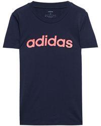 adidas Printed Cotton-jersey T-shirt Lilac - Purple