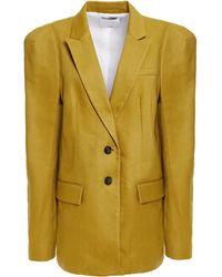 Tibi Twill Blazer - Yellow