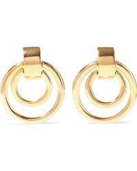 Ben-Amun 24-karat Gold-plated Clip Earrings Gold - Metallic