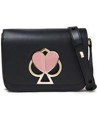 Kate Spade Nicola Twistlock Small Leather Shoulder Bag Black