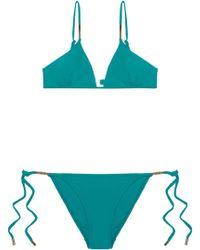 Melissa Odabash - Verona Nautical Striped Triangle Bikini - Lyst