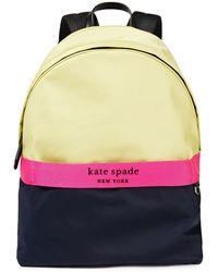 Kate Spade Journey Color-block Satin-twill Backpack - Blue