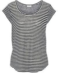 Joie - Neyo Striped Linen-jersey T-shirt - Lyst