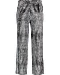 Goat - Printed Jacquard Straight-leg Trousers - Lyst