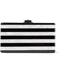 Edie Parker - Jean Striped Marble-effect Acrylic Box Clutch - Lyst