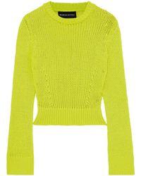 Brandon Maxwell Wool-blend Jumper Lime Green