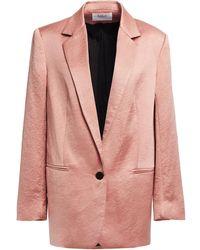 Ba&sh Hammered-satin Blazer - Pink