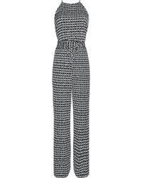 Diane von Furstenberg - Davin Printed Stretch-crepe Jumpsuit - Lyst