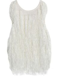 DKNY - Fringed Open-knit Top - Lyst