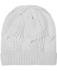 Duffy - Cable-knit Merino Wool Beanie - Lyst