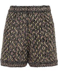 M Missoni Tweed And Tinsel Shorts Black