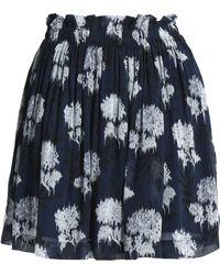 Ganni - Floral-print Georgette Mini Skirt - Lyst