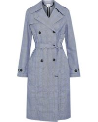 Iris & Ink - Meredith Belted Prince Of Wales Cotton Trench Coat - Lyst