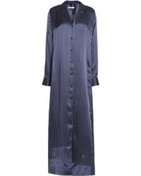 Equipment - Striped Silk-satin Nightshirt - Lyst