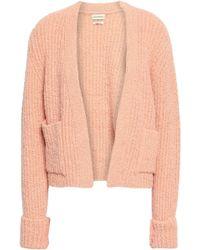 By Malene Birger Mulanta Bouclé-knit Cardigan Peach - Multicolour