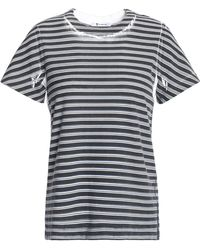 T By Alexander Wang - Printed Cotton-jersey T-shirt - Lyst