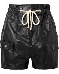 Bassike Leather Shorts - Black