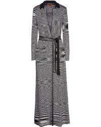 Missoni Belted Sequin-embellished Metallic Crochet-knit Cardigan - Black